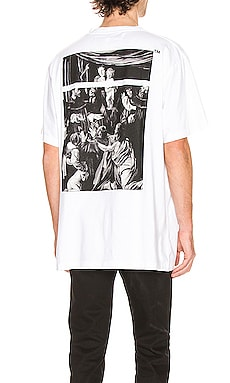 T-SHIRT GRAPHIQUE CARAVAGGIO OFF-WHITE $218