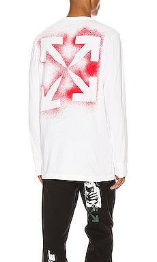 Stencil Long Sleeve Tee OFF-WHITE $350