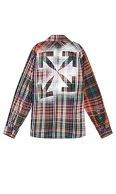Stencil Flannel Check Shirt OFF-WHITE $690