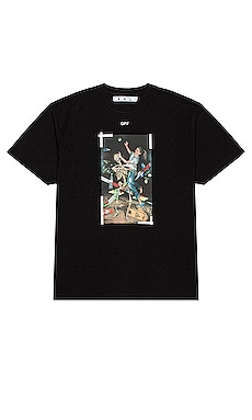 Pascal Print Short Sleeve Over Tee OFF-WHITE $345