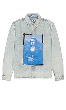 Mona Lisa Denim Shirt OFF-WHITE $870