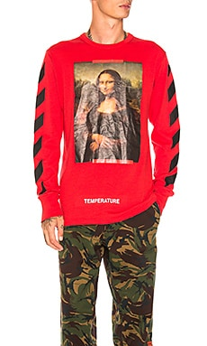 Diagonal Monalisa Long Sleeve Tee