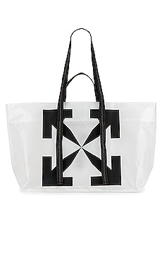 Arrow Tyvek Tote Bag OFF-WHITE $348