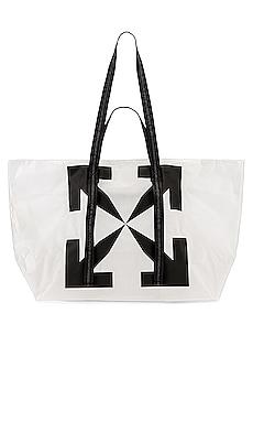 Arrow PVC Tote Bag OFF-WHITE $305