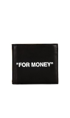 Quotes Bifold Wallet OFF-WHITE $310