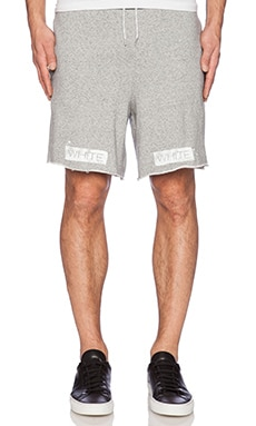 OFF-WHITE Basic Shorts in Melange Grey