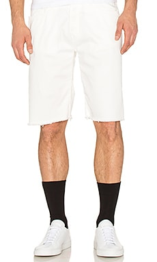 OFF-WHITE 5 Pocket Shorts in White Black