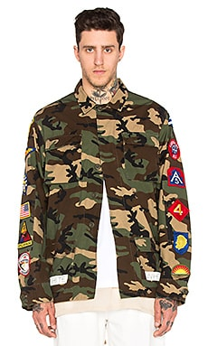 OFF-WHITE Sahariana Jacket in Camouflage With Patches