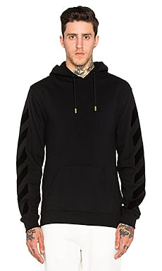 OFF-WHITE Tone On Tone Hoody in Black Black