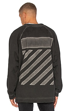 OFF-WHITE Fleece Crewneck in Black