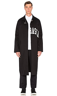 OFF-WHITE Cut Nebraska Coat in Black & White