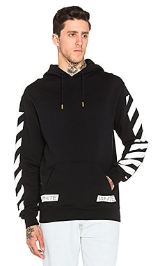 OFF-WHITE Blue Collar Hoody in Black Cobalt
