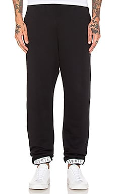 OFF-WHITE Blue Collar Sweatpant in Black & Cobalt Blue