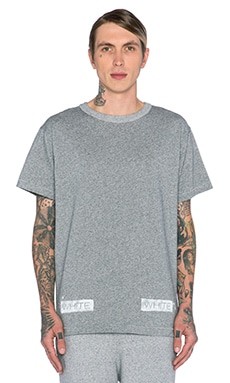 OFF-WHITE Moving Still Tee in Melange Grey