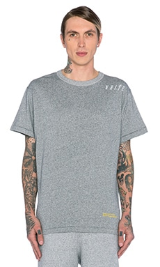 OFF-WHITE White Caps Wave Tee in Melange Grey