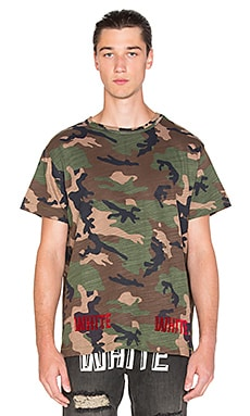 OFF-WHITE Camouflage Tee in All Over Red
