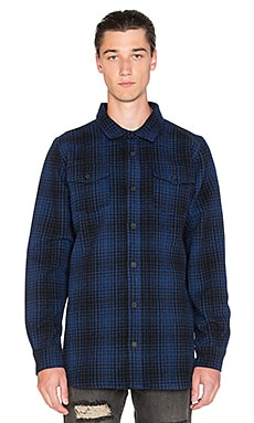 OFF-WHITE Tartan Button Up in Blue & Black