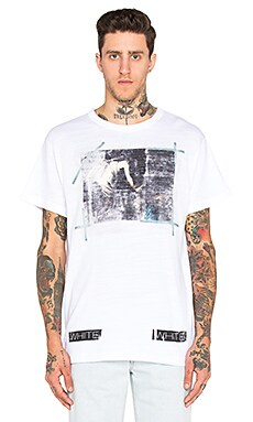 OFF-WHITE Caravaggio Annunciation Tee in White Multicolor