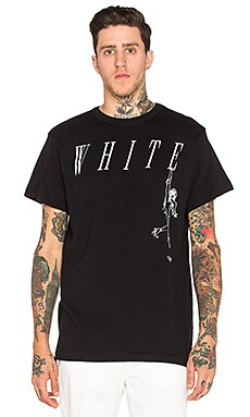 OFF-WHITE Losing Shoes Tee in Black & White