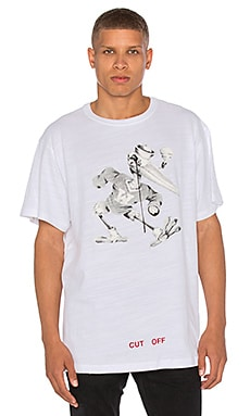 OFF-WHITE Othelo's Stork Tee in White All Over