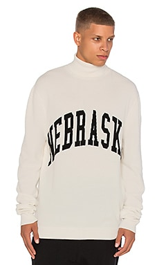 OFF-WHITE Nebraska Turtle Neck in White & Black