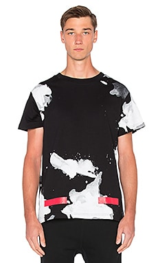 OFF-WHITE Liquid Spots Tee in All Over Red