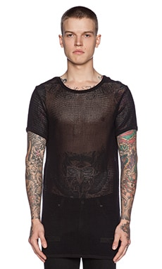OFF-WHITE Rope Tee in Black