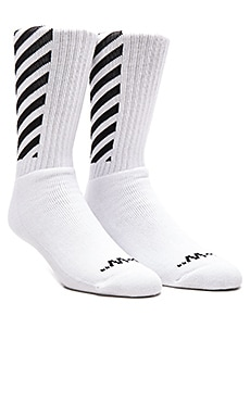 OFF-WHITE Carryover Socks in White & Black