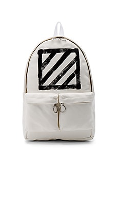 OFF-WHITE Brushed Diagonals Backpack in White & Black