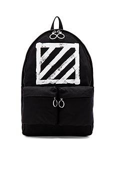 OFF-WHITE Brushed Diagonals Backpack in Black & White