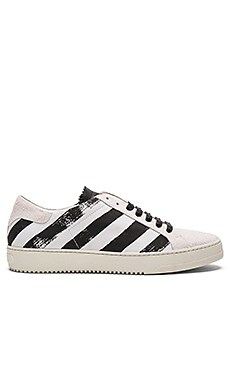 OFF-WHITE Brushed Diagonals Sneaker in White & Black