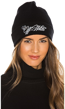 Embroidered Logo Beanie OFF-WHITE $265 NEW
