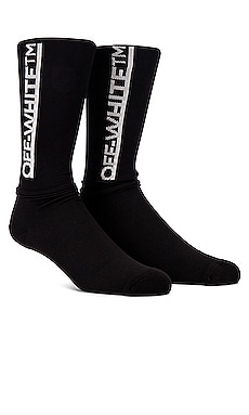 Underlined Logo Long Socks OFF-WHITE $105 Collections