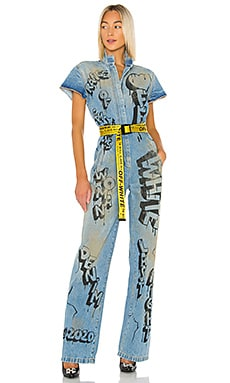 Graffiti Racing Jumpsuit OFF-WHITE $1,340