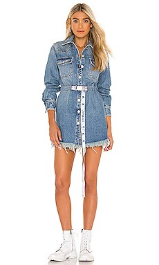 Denim Boxy Dress OFF-WHITE $1,080 Collections
