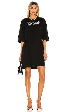 Logo Coulisse T Shirt Dress OFF-WHITE $535