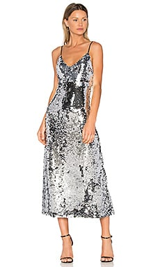 Sequins Slip Dress in Silver