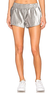 Running Shorts in Silver