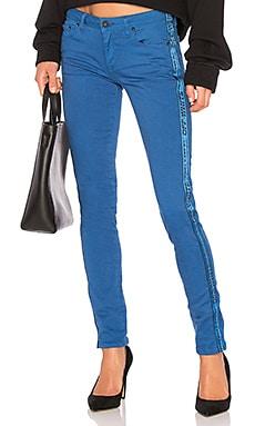 Color Strap Skinny Jean