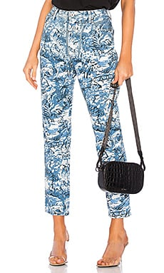 Tapestry Tight Crop Jean OFF-WHITE $287