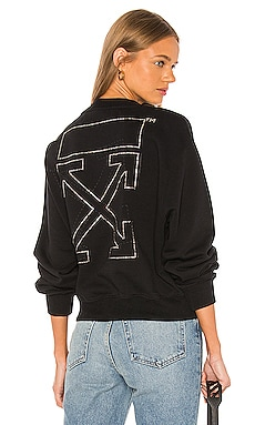 Shifted Crop Crewneck OFF-WHITE $955 NEW ARRIVAL
