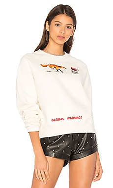 Fox Crop Crewneck Sweater
