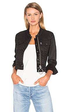 Fitted Denim Jacket in Black