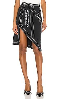 Nylon Parachute Skirt OFF-WHITE $790