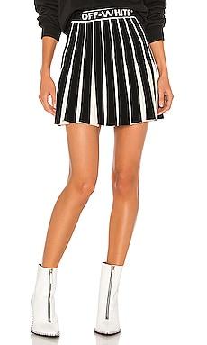 Knit Swans Mini Skirt OFF-WHITE $1,313
