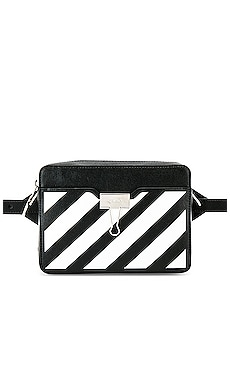 Diagonal Camera Bag OFF-WHITE $910