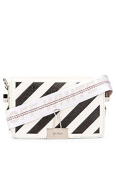 Diagonal Mini Flap Bag OFF-WHITE $910 Collections