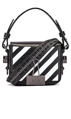 Diagonal Baby Flap Bag OFF-WHITE $825
