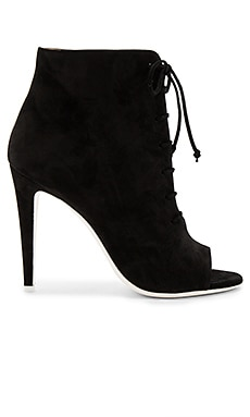 Open Toe Bootie in Black