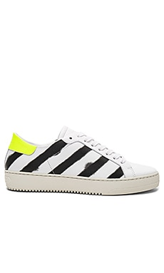Spray Diagonal Sneakers in White & Black